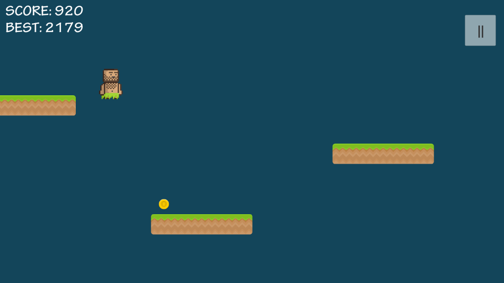 Extremely simple jungle-style runner game
