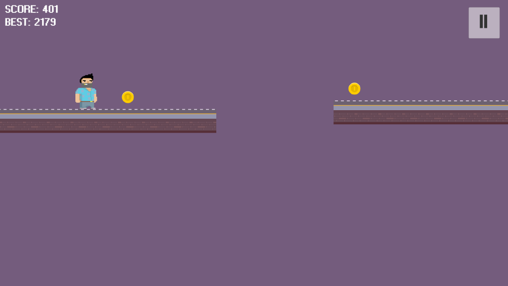 Extremely simple 80s-style runner game